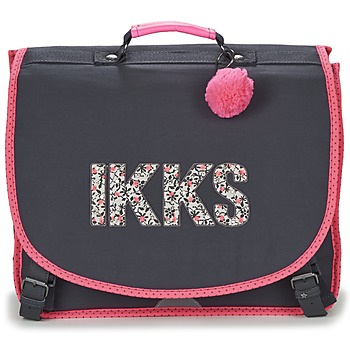 Sacs Fille Cartables Ikks ROCK CARTABLE 41CM Noir / Rose