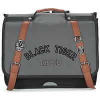 Sacs Garçon Cartables Ikks BLACK TIGER CARTABLE 38CM Noir / Gris / Marron
