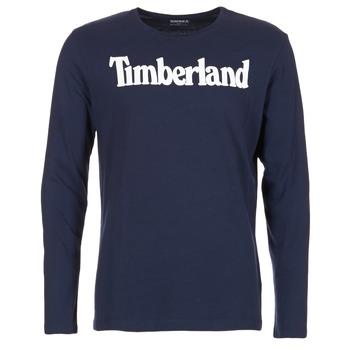 Vêtements Homme T-shirts manches longues Timberland LINEAR LOGO PRINT RINGER Marine