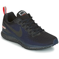 Chaussures Air max tnFemme Running / trail Nike AIR ZOOM PEGASUS 34 SHIELD Noir / Bleu
