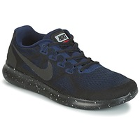 Chaussures Air max tnFemme Running / trail Nike FREE RUN 2017 SHIELD Noir / Bleu
