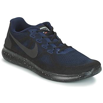 Chaussures Homme Running / trail Nike FREE RUN 2017 SHIELD Noir / Bleu