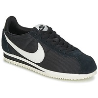 Chaussures Air max tnFemme Baskets basses Nike CLASSIC CORTEZ NYLON W Noir / Blanc