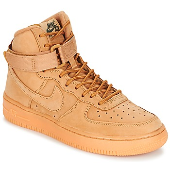 Chaussures Air max tnEnfant Baskets montantes Nike AIR FORCE 1 HIGH WB GRADE SCHOOL Miel