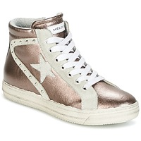 Chaussures Femme Baskets montantes Meline MELONE Bronze
