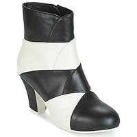 Chaussures Femme Bottines Lola Ramona ELSA Blanc / Noir