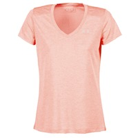 Vêtements Femme T-shirts manches courtes Under Armour TECH SSV - TWIST Corail