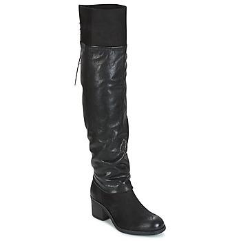 Chaussures Femme Cuissardes Mjus SHAGGY Noir
