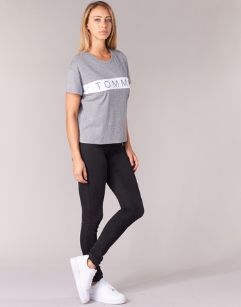 Tommy Jeans THDW CN T-SHIRT S/S 26 Gris / Blanc