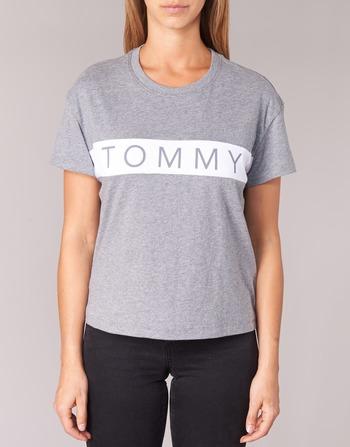Tommy Jeans THDW CN T-SHIRT S/S 26 Gris / Blanc