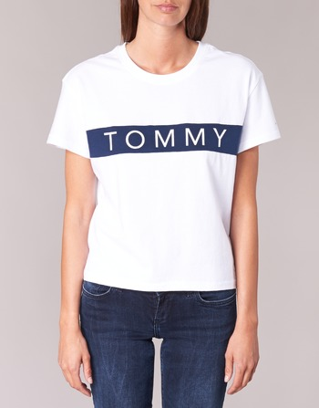 Tommy Jeans THDW CN T-SHIRT S/S 26 Blanc / Marine