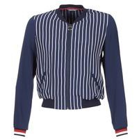 Vêtements Femme Vestes / Blazers Tommy Hilfiger NALOME GLOBAL STP BOMBER Marine / Blanc / Rouge