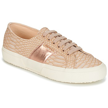 Chaussures Femme Baskets basses Superga 2750 PU SNAKE W Nude
