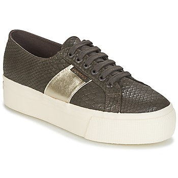 Chaussures Femme Baskets basses Superga 2790 PU SNAKE W Marron