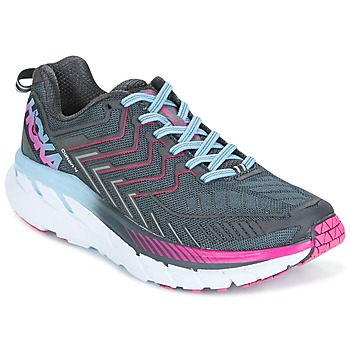 Chaussures Air max tnFemme Running / trail Hoka one one CLIFTON 4 Gris
