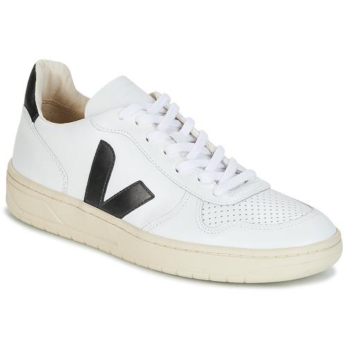 Chaussures Baskets basses Veja V-10 Blanc / Noir