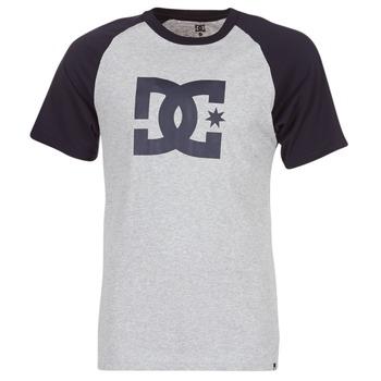 Vêtements Homme T-shirts manches courtes DC Shoes STAR RAGLAN SS Noir / Gris