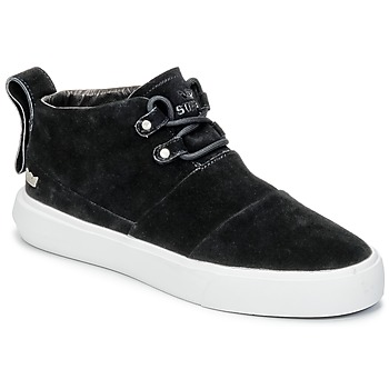Chaussures Homme Baskets montantes Supra CHARLES Noir / Blanc