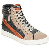 Chaussures Homme Baskets montantes Diesel D-STRING PLUS Anthracite / Camel