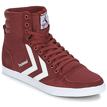 Chaussures Baskets montantes Hummel STADIL CANEVAS HIGH Bordeaux