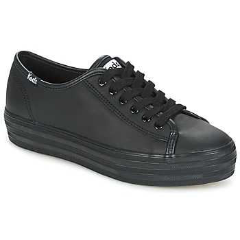 Chaussures Femme Baskets basses Keds TRIPLE KICK CORE LEATHER Noir