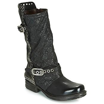 Chaussures Air max tnFemme Bottes ville Airstep / A.S.98 SAINT EC BUCKLE Noir