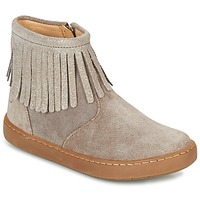Chaussures Fille Boots Shoo Pom PLAY FRINGE Taupe / Platine