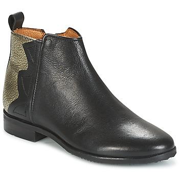 Chaussures Fille Boots Adolie ODEON WILD Noir / Platine