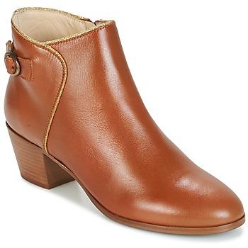 Chaussures Air max tnFemme Bottines M. Moustache ELEONORE.M Cognac / Doré