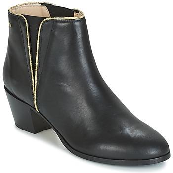 Chaussures Femme Bottines M. Moustache JEANNE.M Noir / Doré