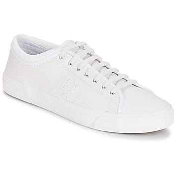 Chaussures Homme Baskets basses Fred Perry KENDRICK TIPPED CUFF LEATHER Blanc