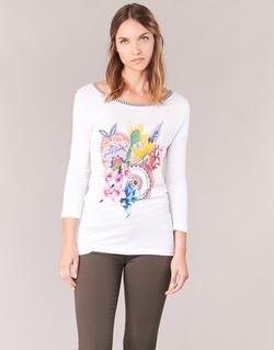 Vêtements Femme T-shirts manches longues Desigual TERON Blanc