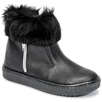 Chaussures Fille Boots Citrouille et Compagnie HOUPI Noir