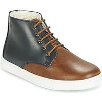 Chaussures Garçon Boots Citrouille et Compagnie HILABOUL Marron / Marine