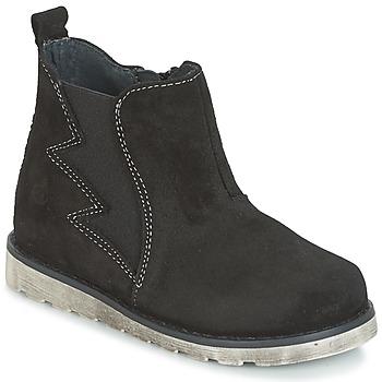 Chaussures Garçon Boots Citrouille et Compagnie HISSA Noir