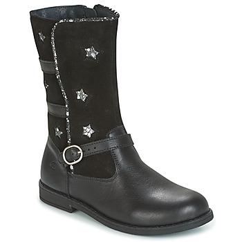 Chaussures Fille Bottes ville Citrouille et Compagnie HANDRE Noir