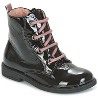 Chaussures Fille Boots Citrouille et Compagnie HEMANU Noir / Rose