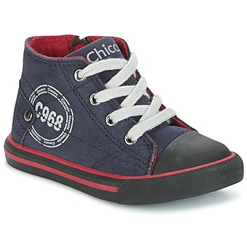 Chaussures Garçon Baskets montantes Chicco CRITTER Marine / Noir / Rouge