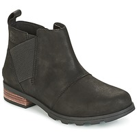 Chaussures Femme Bottes de neige Sorel EMELIE CHELSEA Noir
