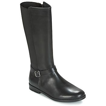 Chaussures Fille Bottes ville Start Rite GRACE LONG Noir