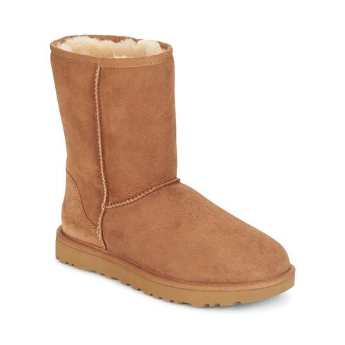 Chaussures Femme Boots UGG CLASSIC SHORT II Camel