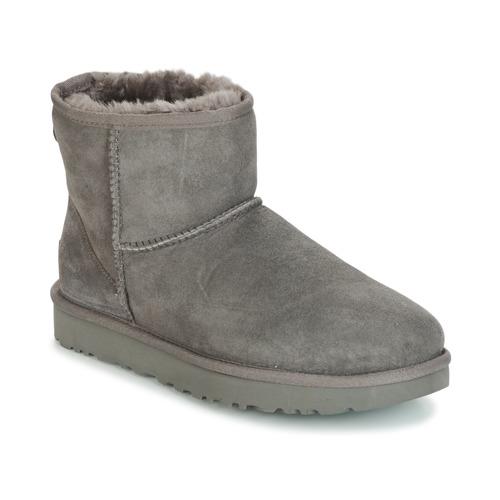 Chaussures Femme Boots UGG CLASSIC MINI II Gris