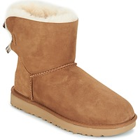 Chaussures Femme Boots UGG MINI BAILEY BOW II Marron