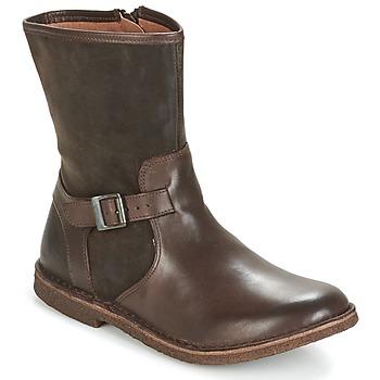 Chaussures Femme Boots Kickers CREEK Marron foncé