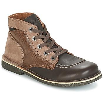 Chaussures Femme Boots Kickers LEGENDIKNEW Marron foncé