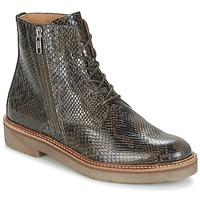Chaussures Femme Boots Kickers OXFOTO Gris / Python