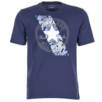 Vêtements Homme T-shirts manches courtes Converse CHUCKPATCH CONTRAST SLASH TEE Marine