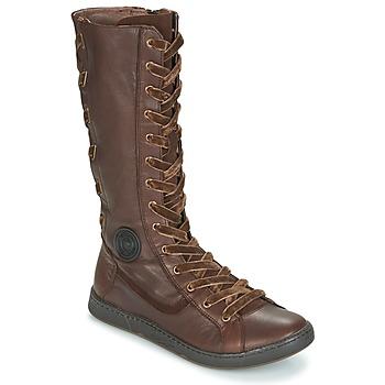 Chaussures Femme Bottes ville Pataugas JINA Marron