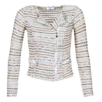 Vêtements Femme Vestes / Blazers Le Temps des Cerises MIRABEAU Beige / Blanc
