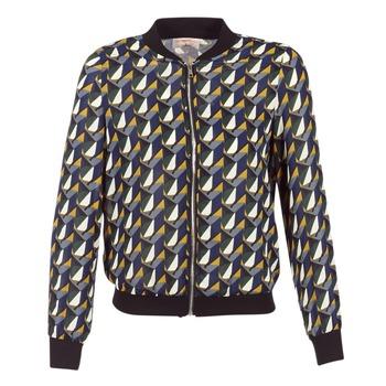 Vêtements Femme Blousons Moony Mood HARIO Noir / Bleu / Jaune